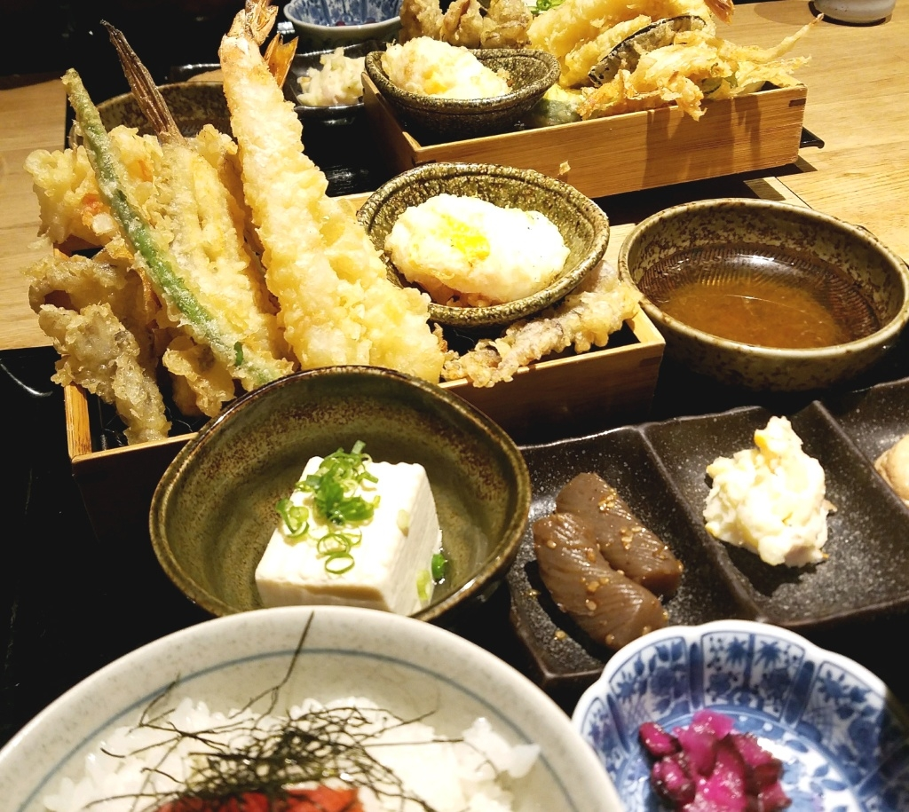大阪天満にある天ぷら市のランチ