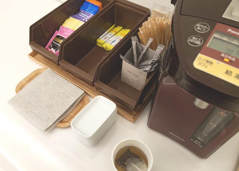 パナソニックセンター大阪セミナールームのお茶スペース